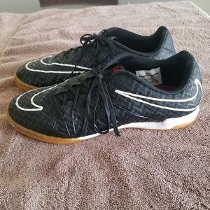 Nike Shoes - Black and red hypervenom indoor soccer shoes